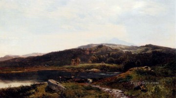 Llyn y Ddinas North Wales landscape Sidney Richard Percy Oil Paintings